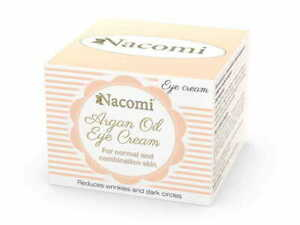 Natural under-eye argan oil cream  for normal and combination skin NACOMI 15ml.
