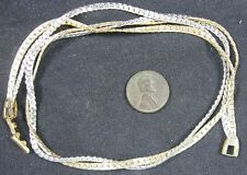 Vintage 2 Strand Silver & Goldtone Serpentine Necklace Avon 17""
