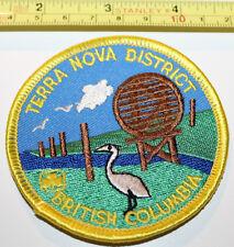 Girl Guides Terra Nova District BC Heron Canada Badge Label Patch