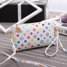 White Messenger Bag PU Leather Satchel Chic Mini Handbag Girl Shoulder Bags