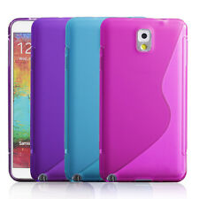 For Samsung Galaxy Note 3 Note III N9000 Hybrid Soft S TPU Case Cover + Screens