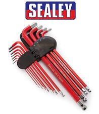Sealey 11 PIÈCES ROUGE ak7164 extra-long hexagonal métrique / Jeu de clés Allen
