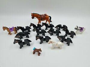 Lego Horse City Cavelry Friends black joblot (L8)