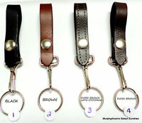 Made in USA Leather Key Holder Snap Around Belt/Belt Loop Key Ring Clip Pick One