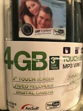 """New listing Ematic 4Gb 3"""" touch Screen Mp3 Video Player 5Mp Camera, voice/video recorder +"""