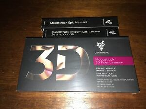 Younique Moodstruck 3D Fiber Lashes 3 Piece Kit. Brand New.