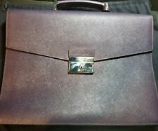 PRADA Briefcase Limited Purple color Saffiano Leather New w  dust bag bec03dfff7064