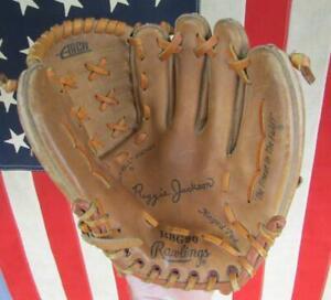 Vintage 70s Rawlings Leather Baseball Glove Mitt HOF Reggie Jackson Model RBG90