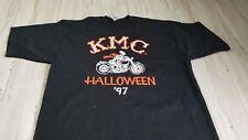 Harley Davidson Tshirt shirt Men KMC Halloween 1997 Lofteez skeleton biker XL