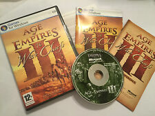 PC CD-ROM GAME EXPANSION PACK AGE OF EMPIRES III 3 THE WAR CHIEFS +BOX INSTRUC'S