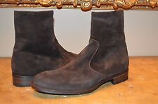 Magnanni Men's Brown Suede Leather Boots, US 11.5