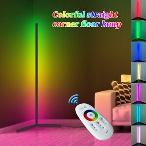 RGB Colour Changing LED Corner Floor Lamp Minimalist Mood Light Reomte Control
