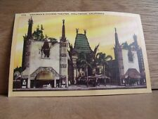 1930-40s America Postcard Grauman's Chinese Theatre Hollywood California