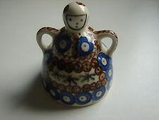 alte Frauenfigur, Bunzlau, Abdeckung für Zwiebeln o.Ä., 8.5cm