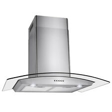 "30"" Push Control Vent Fan Wall Mount Kitchen Cooking Stainless Steel Range Hood"