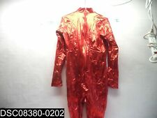 Size XL Wolf Unitard Red Shiny Long Sleeve Bodysuit