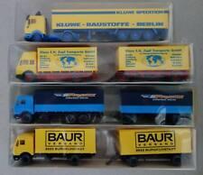 4x WIKING 1/87 LKW KLUWE Baustoffe - KLAUS ZAPF Umzüge Frankfurt - PREUSS - BAUR