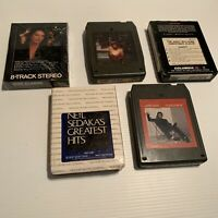 Lot Of 10 Vintage 8 Track Tapes One Unopened Some In Sleeves Great Gifts