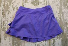IVIVVA by Lululemon Purple Set the PACESETTER Ruffled Tennis Skort Skirt Run 8