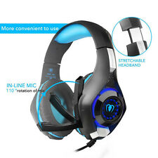 Game Over-Ear Ear-Cup Headphone Headset MF LED Light For PC PS4 Xbox Tablet