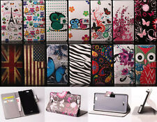 Leather Wallet Card Holder Case Rubber Stand Cover For Huawei Ascend G620S GX