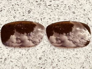 ETCHED POLARIZED AMBER BROWN REPLACEMENT LENSES FOR OAKLEY FIVES SQUARED & 3.0