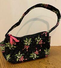 Vera Bradley New Hope Small Hand Bag Breast Cancer Pattern Black Pink Green
