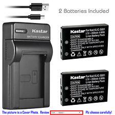 Kastar Battery Charger Kodak KLIC-5001 Kodak EasyShare Z760 EasyShare Z7590