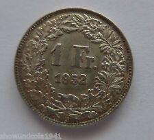 Schweiz 1  Franken --1952 B-- Silber Erhaltung