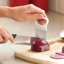 Onion Holder Slicer Vegetable Tomato Cutter Stainless Steel Kitchen Tool ONE