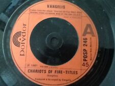 VANGELIS . CHARIOTS OF FIRE - TITLES  . 1981 FILM THEME . NR MINT