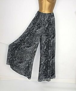 Per Una ladies culottes trousers 10 Long Lined Animal print Wedding Party 1a17