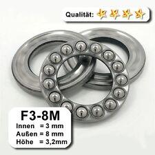 10 Stk. Axiallager F3-8M - 3 x 8 x 3,2 mm