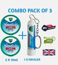 VICKS INHALER AND VICKS VAPORUB COMBO PACK FOR FAST RELIEF FROM COLD COUGH