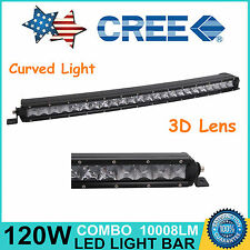 """Curved 25""""in 120W Single Row CREE LED Spot Light Bar Offroad SUV Car Boat 24/26"""