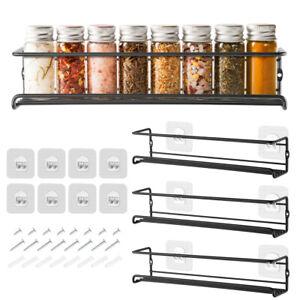 4x Spice Rack Shelf Condiment Seasoning Storage Cabinet Holder Kitchen Organizer