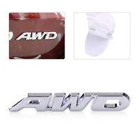 Metal Silver AWD Car SUV Off Road Tailgate Emblem Sticker Badge Decal