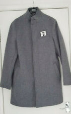 M&S Mens Grey Funnel Neck Overcoat Size Medium BNWT RRP £79