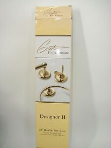 """Gatco 5365 24"""" Double Towel Bar Brass Finish Solid Forged Holder Designer II NEW"""