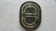 Vintage Heineken Beer Advertising Belt Buckle
