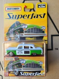 MATCHBOX SUPERFAST- CHECKER CAB [GREEN] VHTF NEAR MINT *COMBINED POSTAGE *