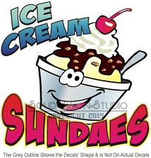 "14"" Ice Cream Sundae Decal * Food Truck Restaurant Concession Trailer Cart Sign"