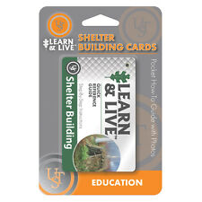 UST Learn & Live Shelter Building Cards Pocket How-To Survival Guide inc Photos