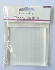 Dovecrafts Acrylic Square Block For Use With Clear Rubber Stamps
