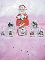 *RARE VTG LOT 8 Japan Santa Merry Christmas Bells Ornament Figurines EX