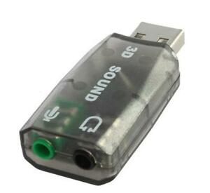 USB Audio Adapter External Stereo Sound Card 3D Converter 5.1 Channel Adaptor