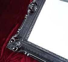 Miroir Baroque Miroir Mural Noir / Argent Antique Baroque Rococo 90x70 cm Repro
