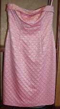 ESCADA PINK PARCHA STRAPLESS DRESS 40 $1150 GORGEOUS!!!