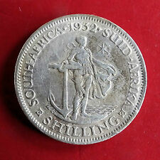 SOUTH AFRICA 1932 GEORGE V SILVER SHILLING