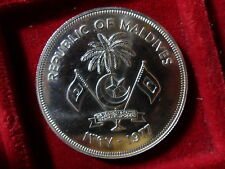 MALDIVES 20 RUFIYAA 1977 SILVER FAO